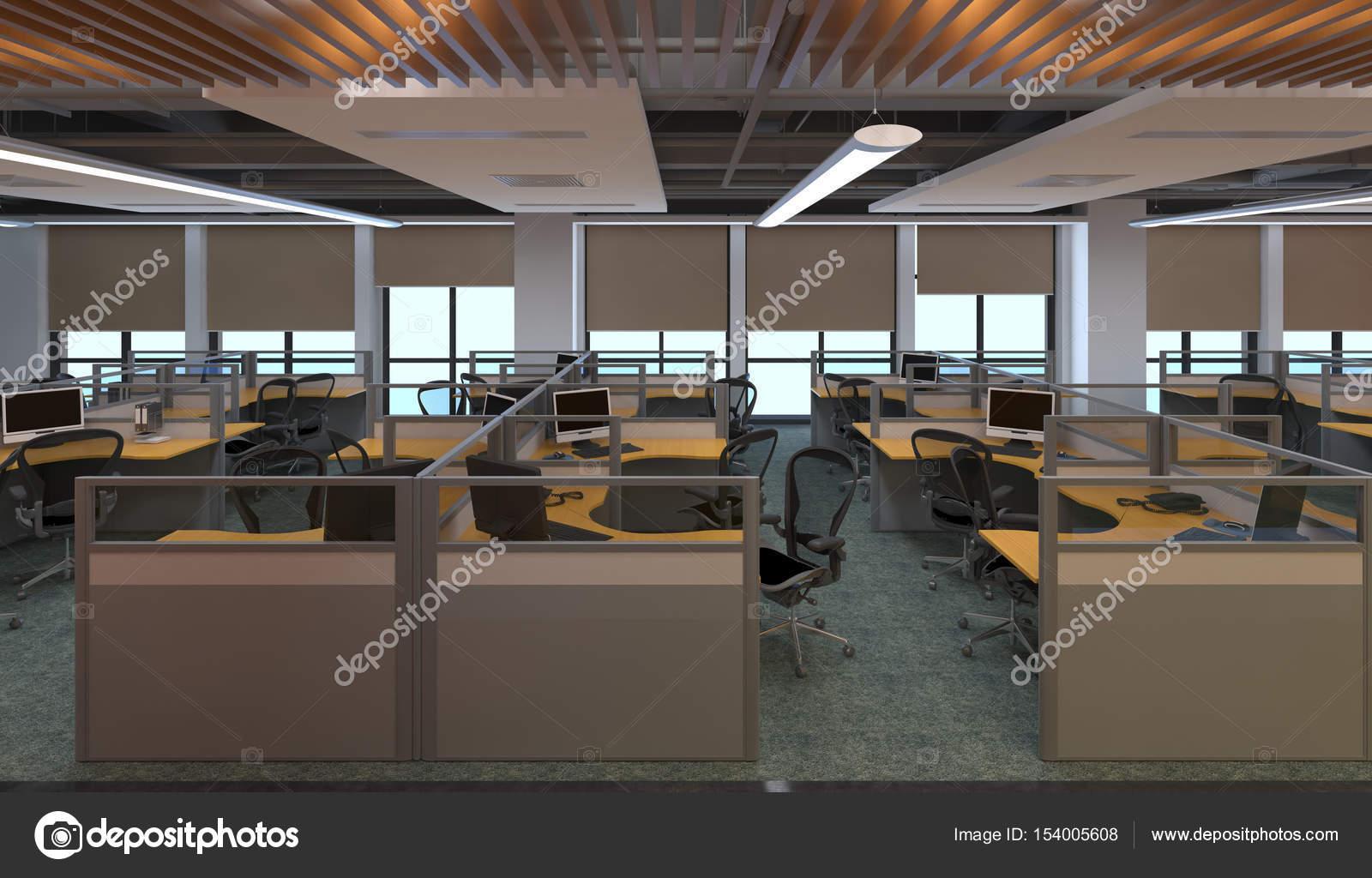 L intérieur de bureau moderne design illustration d