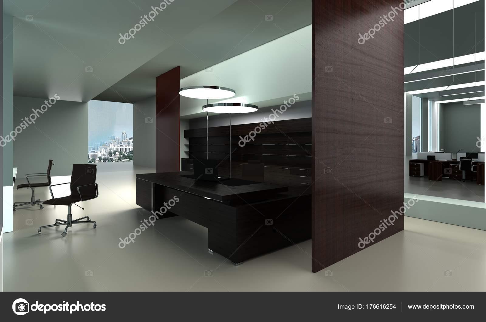 Design Ufficio Moderno : Illustrazione d l ufficio moderno interior design u foto stock