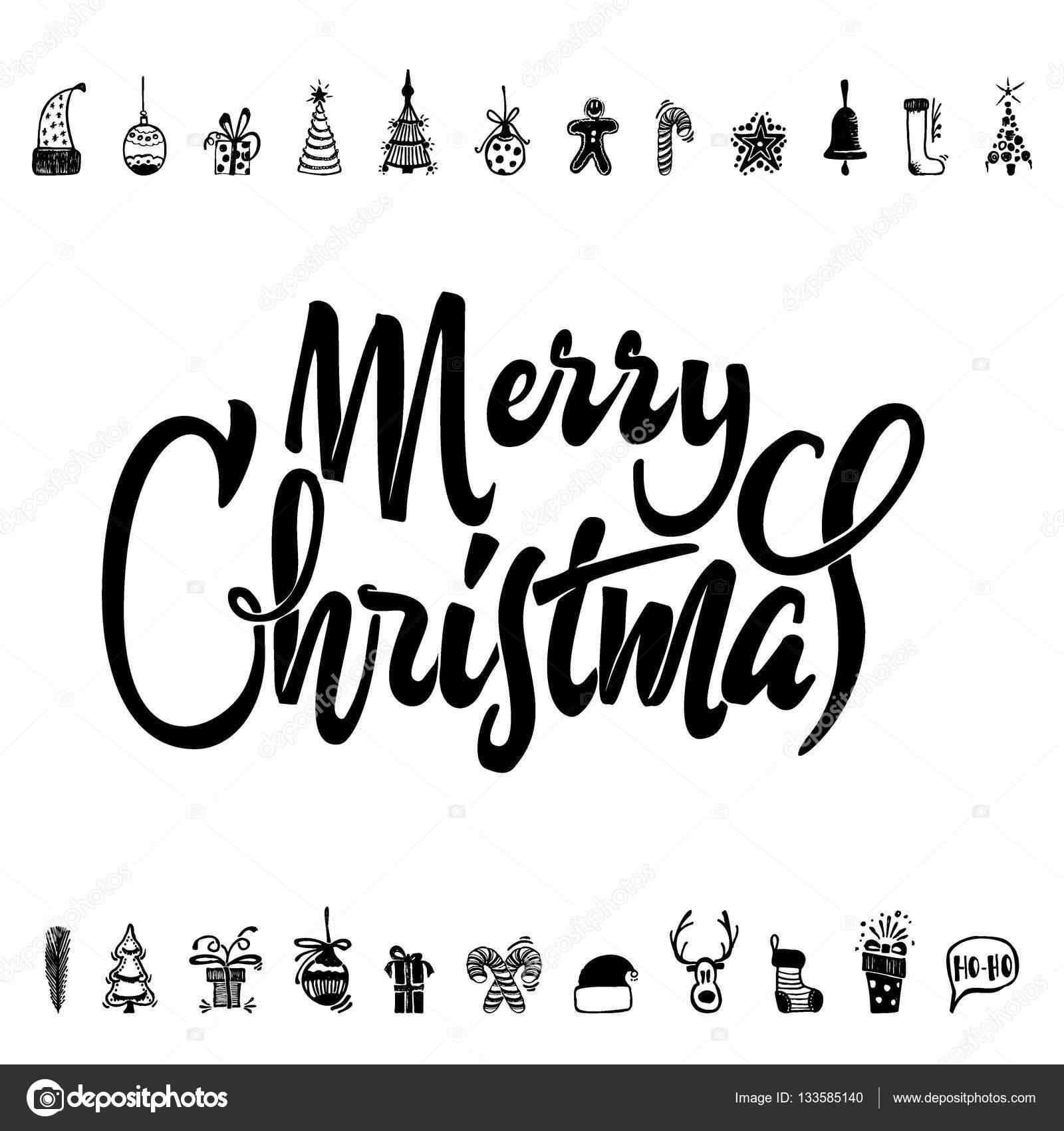 Frohe Weihnachten und ein glückliches neues Jahr 2017 Hand ...