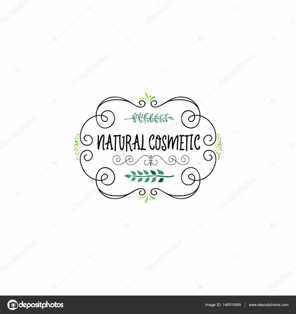 Cosmetics Logo Handmade Template Isolated Vector Object Is A Badge For Your Design By Zao4nik