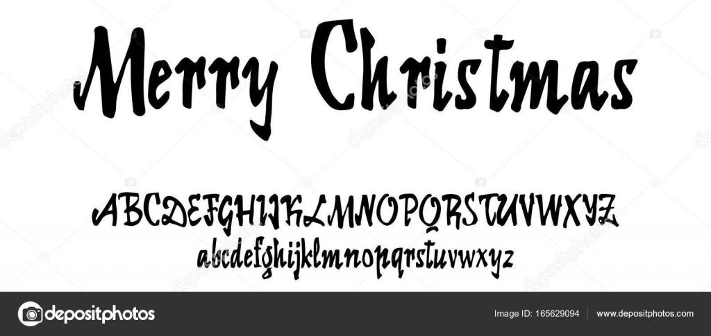 Alfabeto vectorial. Fuente caligráfica. Caracteres personalizados ...