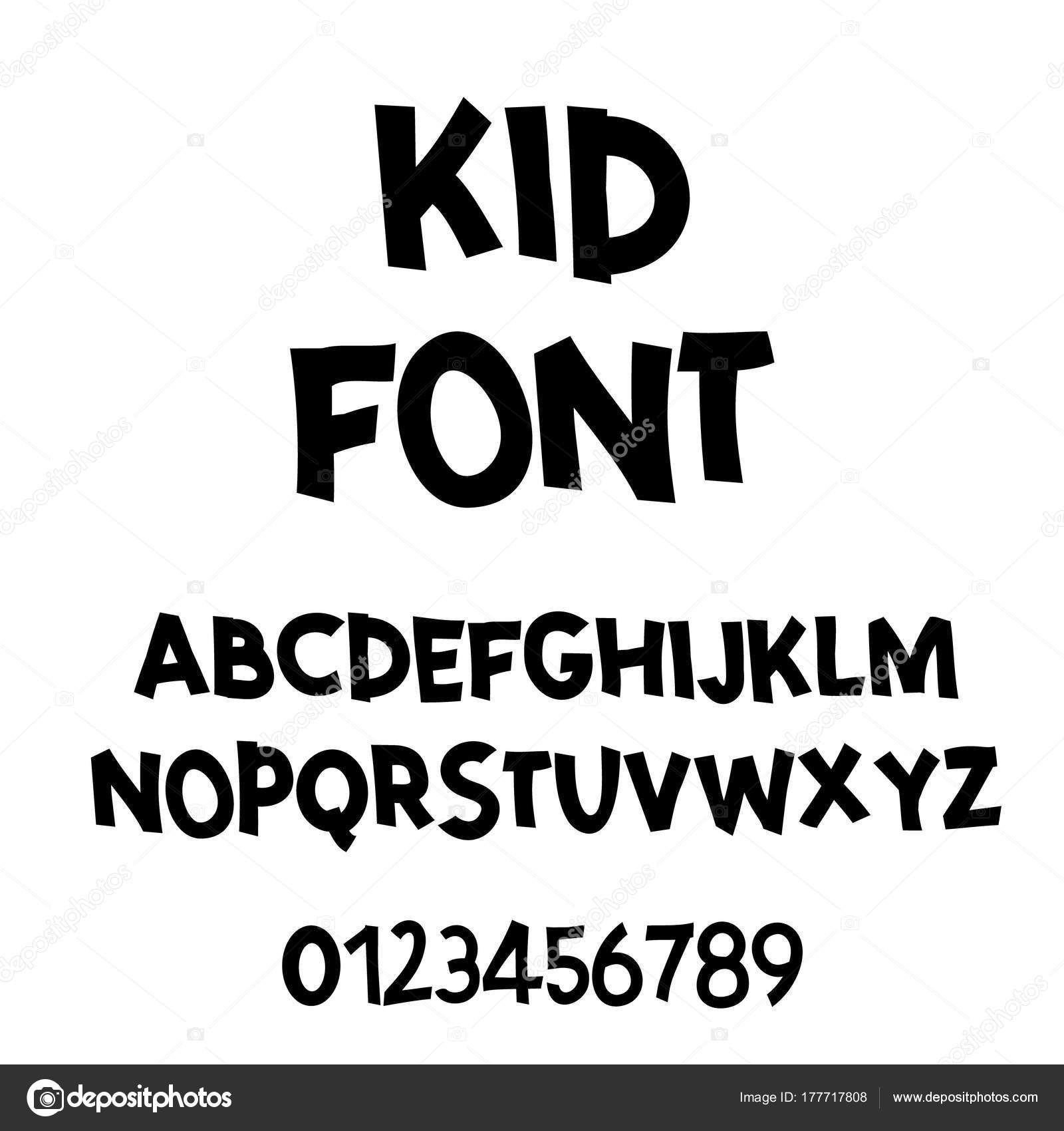 Comic lettering font. Vector alphabet.Hand Lettering script font. Typography alphabet for Designs: Logos, Packaging Design, Poster. Children ABC.