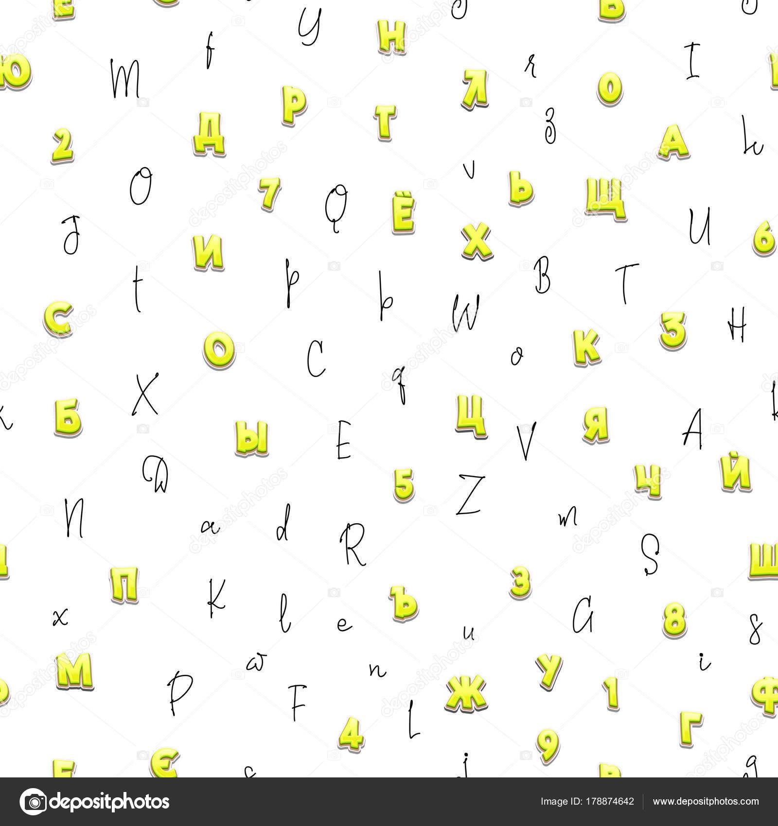 De patrones sin fisuras, diverso estilo Letras 3d, Caligráficos ...
