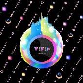 Plakát s rainbow odměrné postav a memphis styl prvky-02