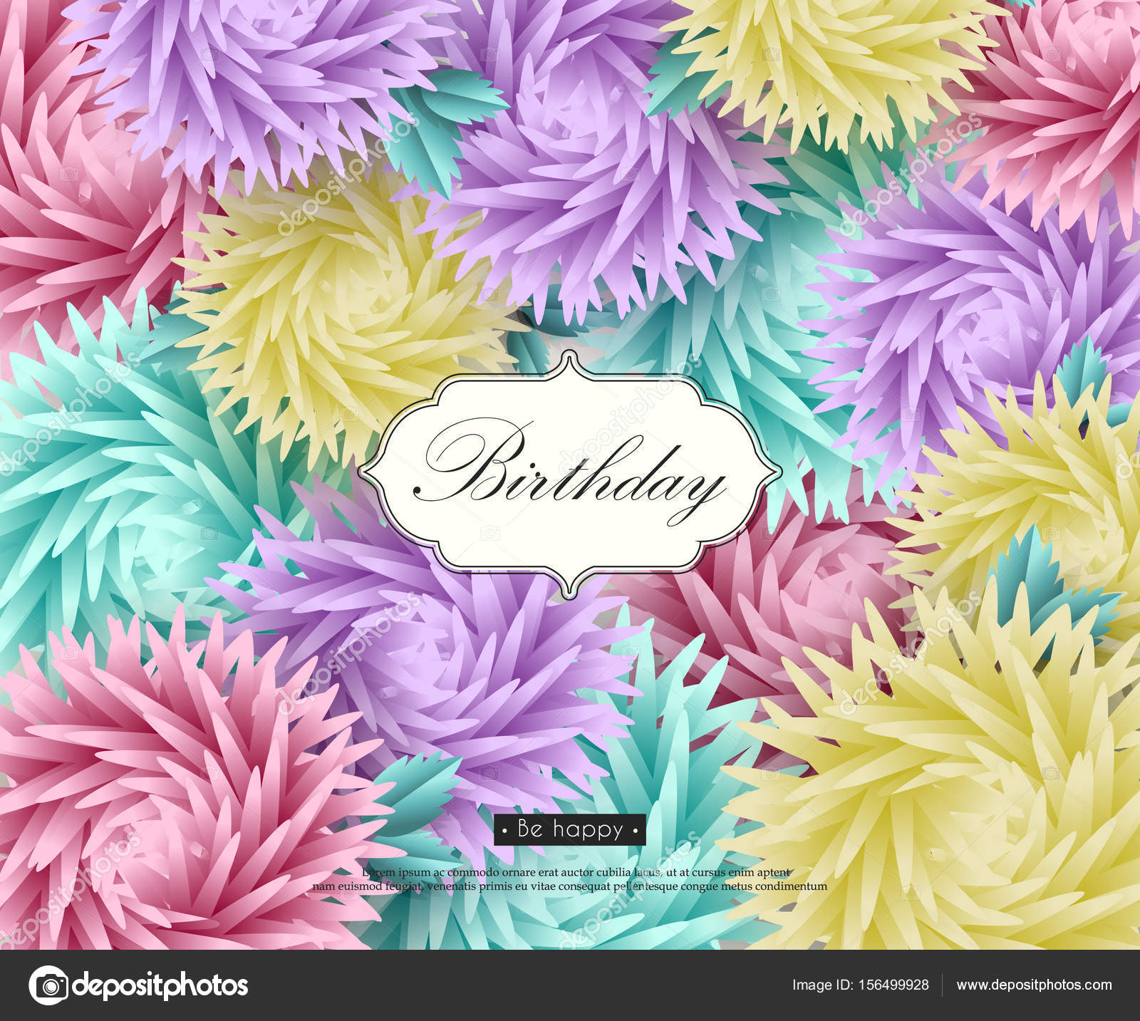 3d flower paper art stock vector smska 156499928 background with 3d flowers and text paper art templates for greeting cards placards banners flyers vector illustration vector by smska mightylinksfo