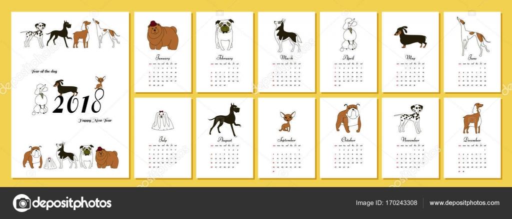 Calendar Template Vertical