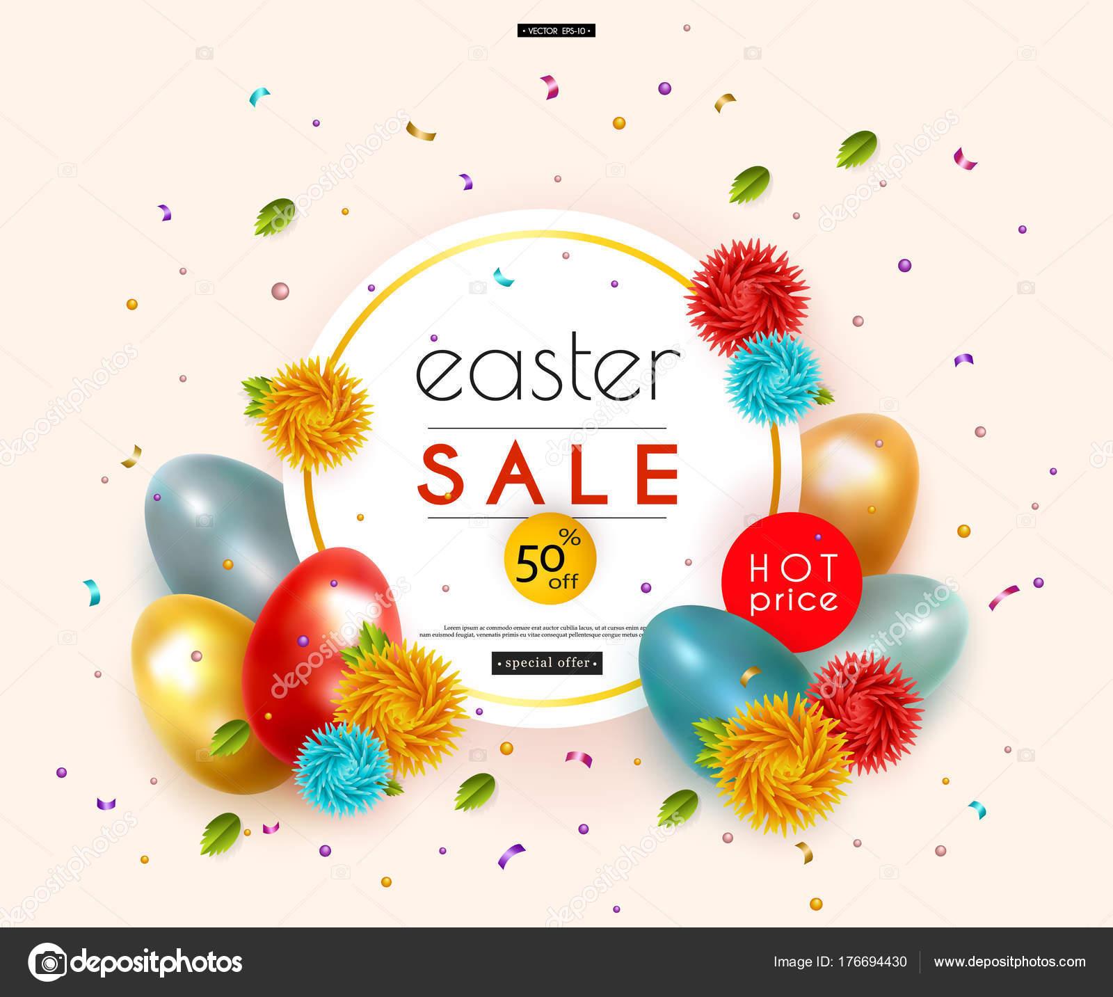 3662eee07a Πασχαλινή προσφορά. Διαφήμιση banner με κοτόπουλο και τα αυγά ορτυκιού