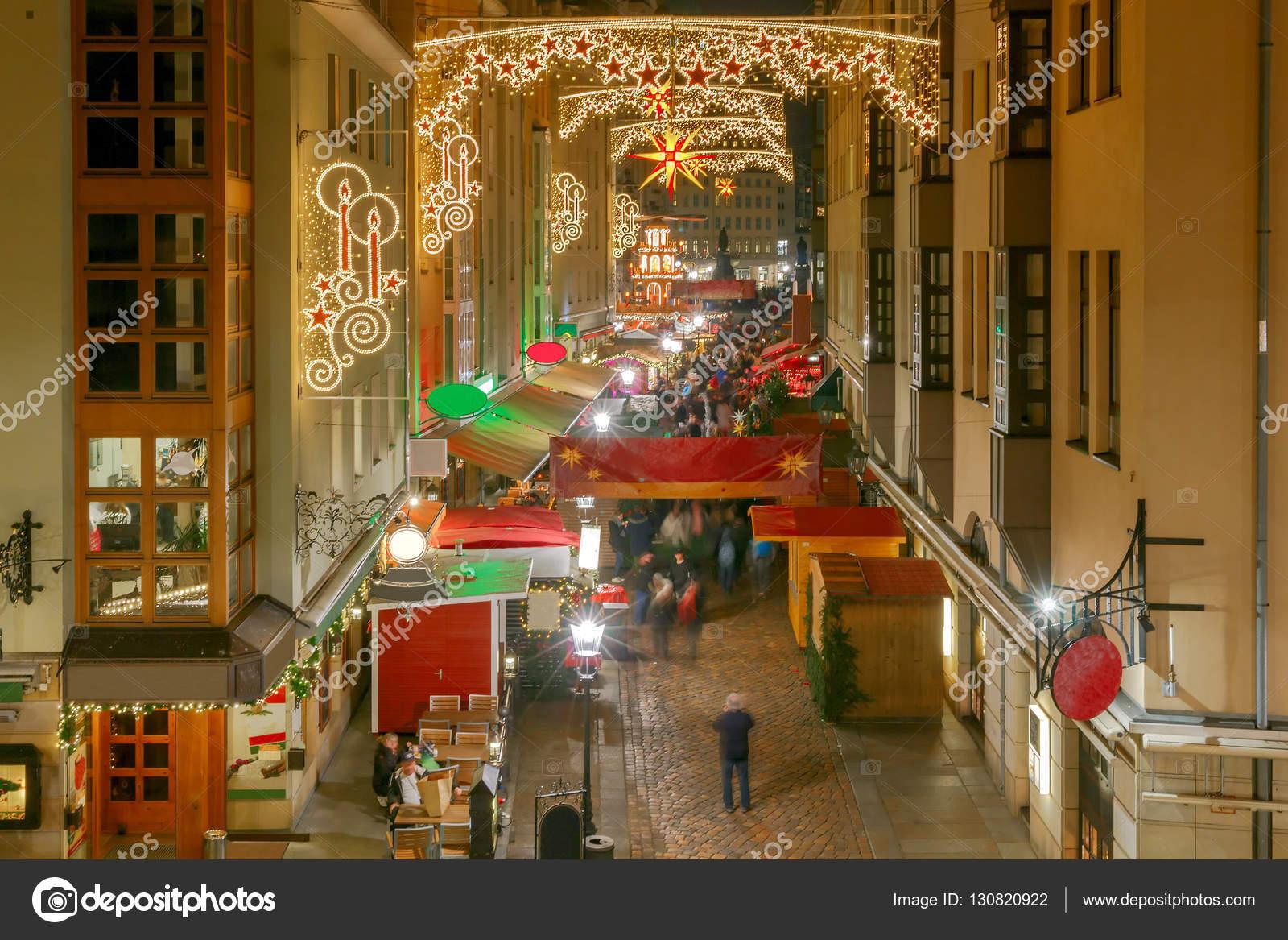 Dresden Weihnachten.Dresden Weihnachten Straße Stockfoto Pillerss 130820922