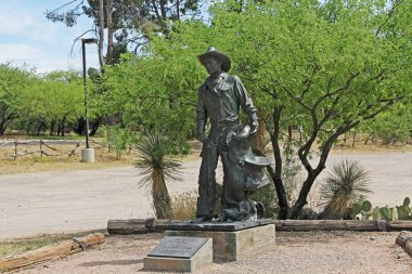 Cowboy Statue on La Posta Quemada Ranch in Colossal Cave Mountain Park