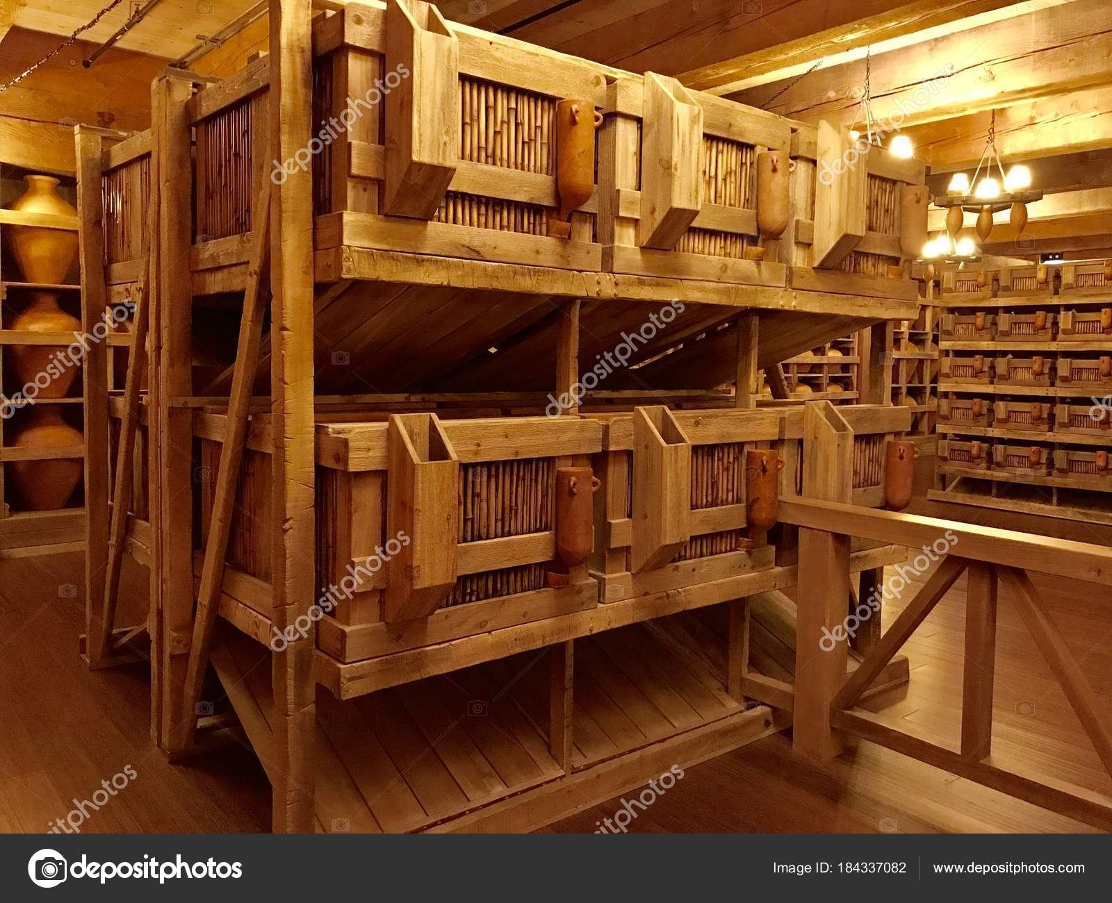 Williamstown Usa November 2017 Animal Cages Noah Ark Replica Ark