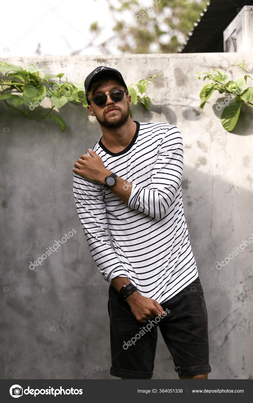 Young Attractive Male Model Posing Casual Wear Stock Photo C Kireyonok 364051336