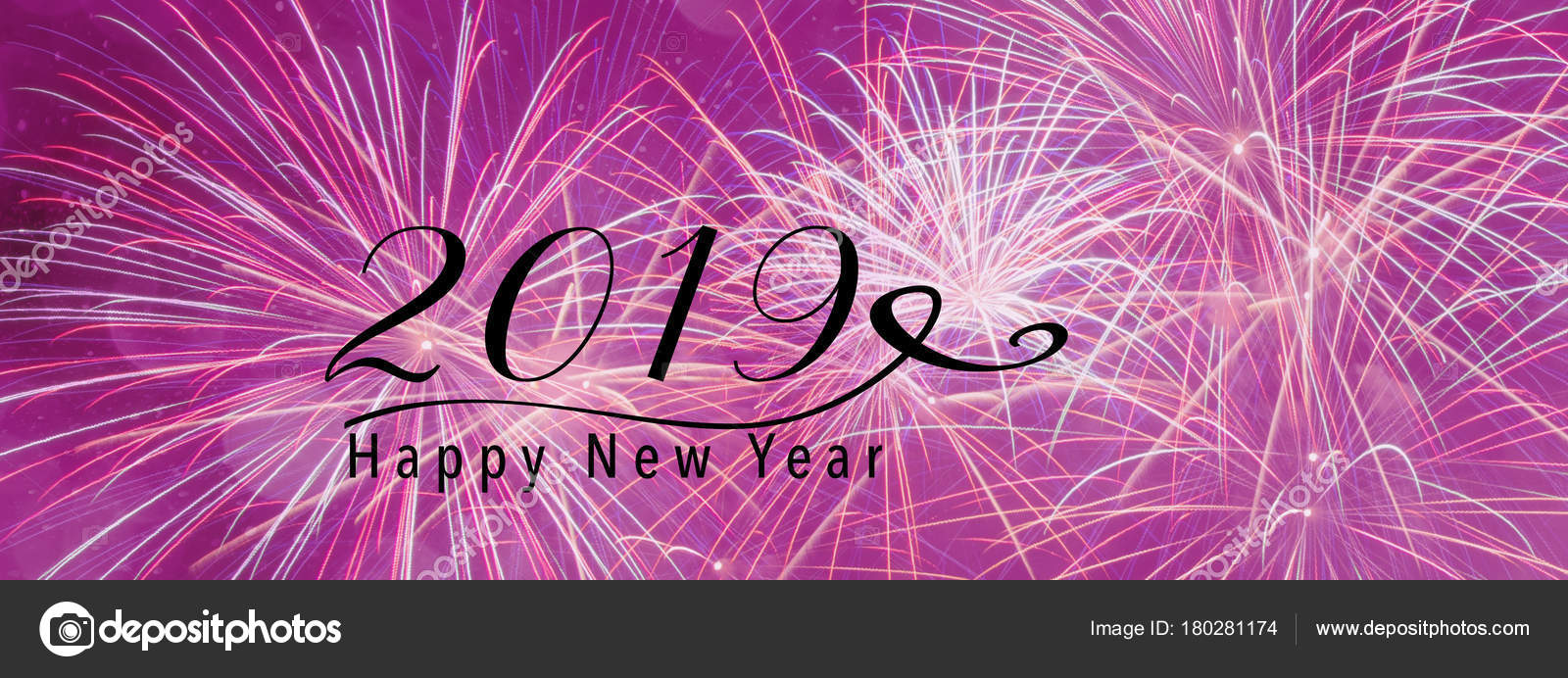 happy new year 2019 quote panoramic banner style scales down to fit a facebook header size photo by capdesign