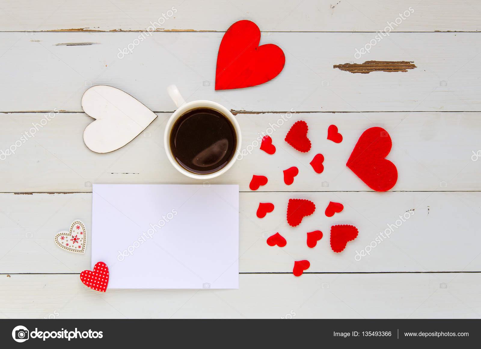 St. Valentine Tag Vintage Overhead Vorlage mit leere Notiz zur ...
