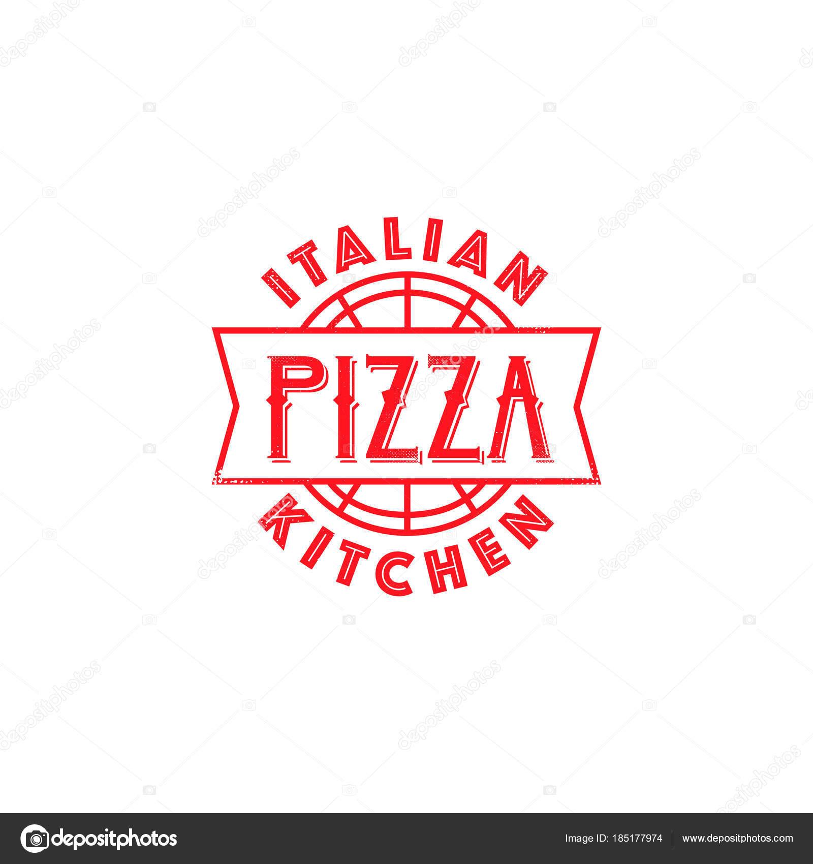 Classical Logo Design Pizza Restaurant Classic Logo Design Italian Cafe Vector Symbol Stock Vector C Stacy T 185177974