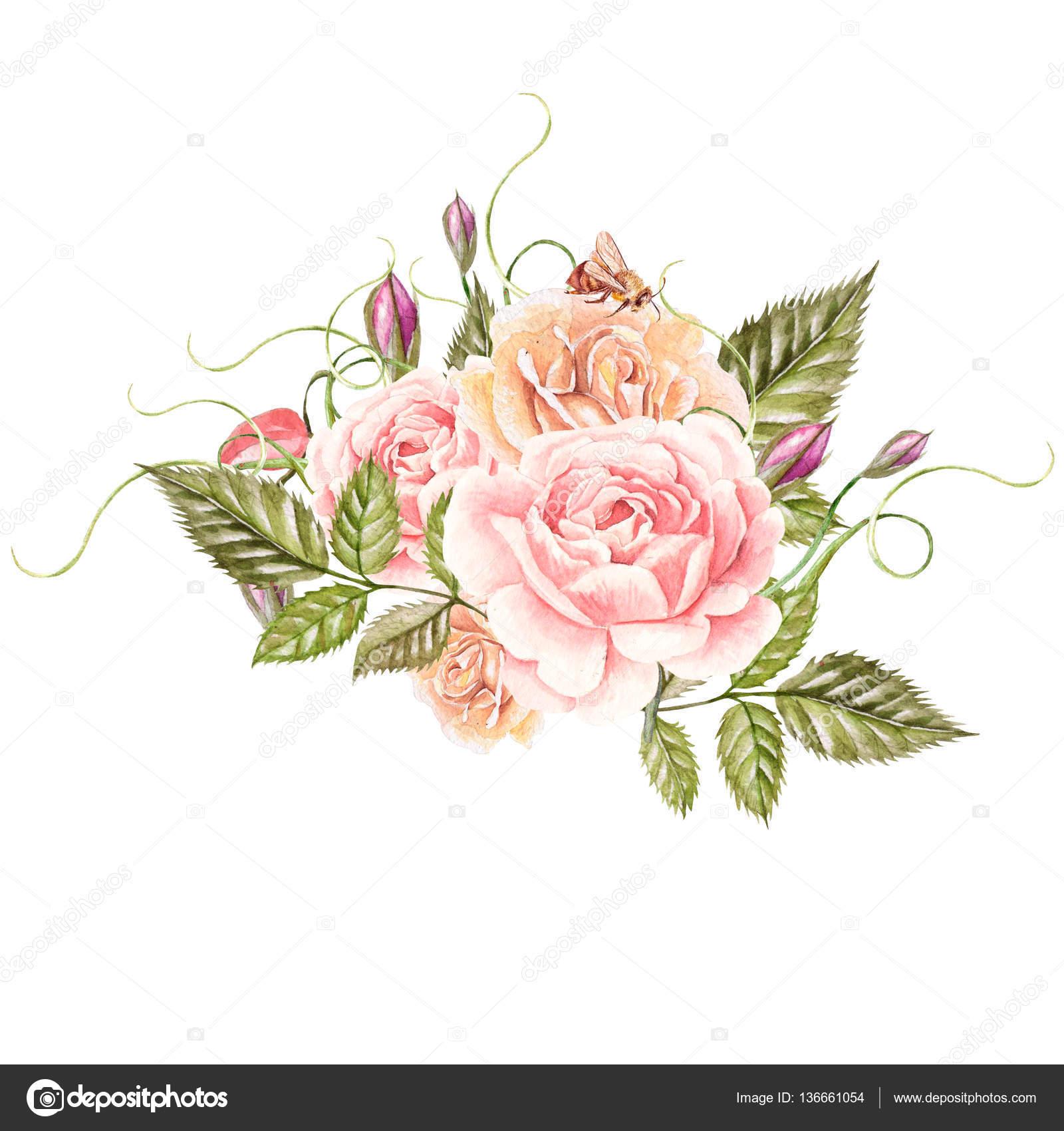 Bouquet De Fleurs Aquarelle Photographie Knopazyzy C 136661054