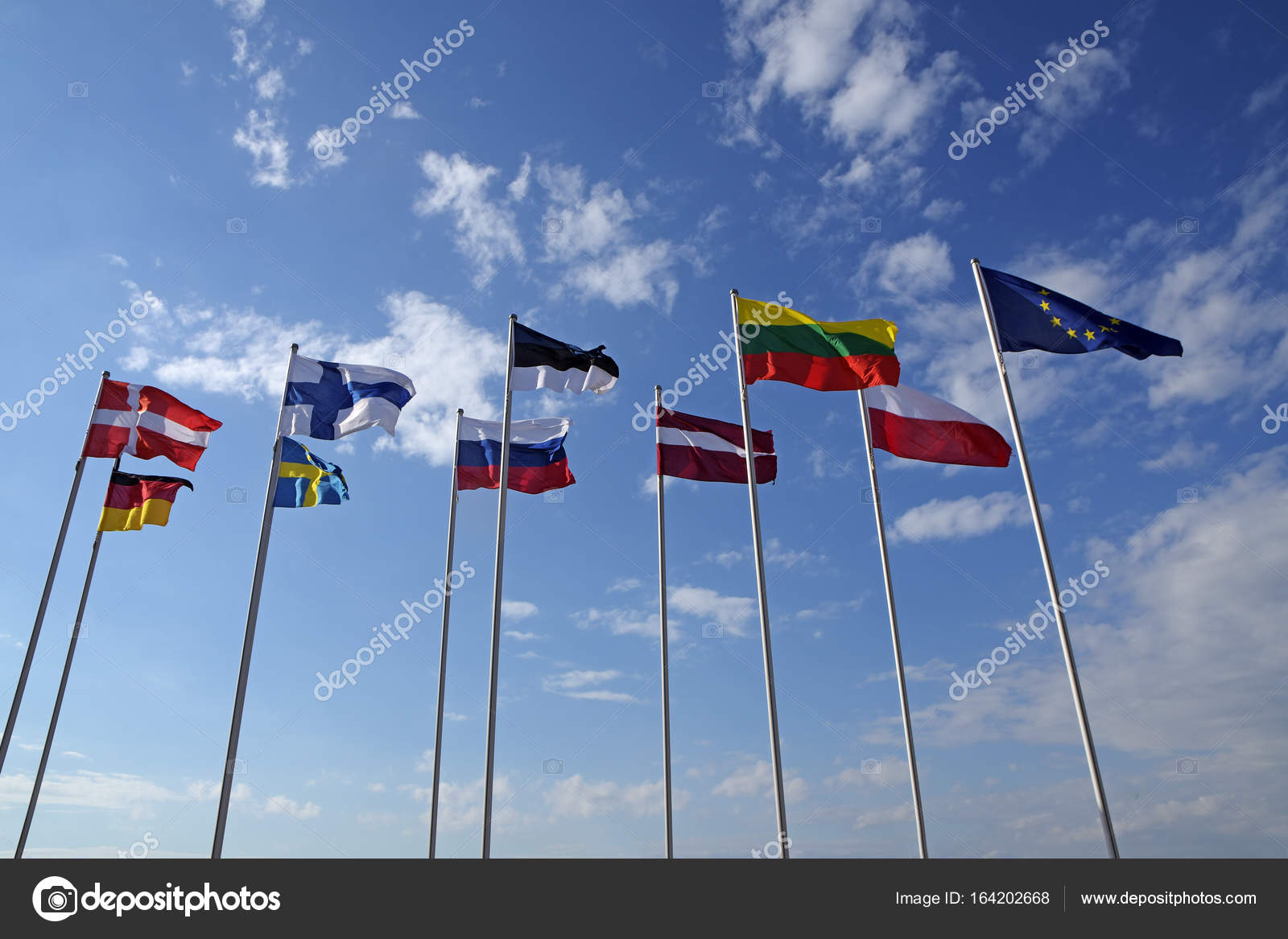 Flags of different countries the national symbols or signs of flags of different countries the national symbols or signs of denmark germany finland sweden estonia russia austria lithuania poland and europe biocorpaavc