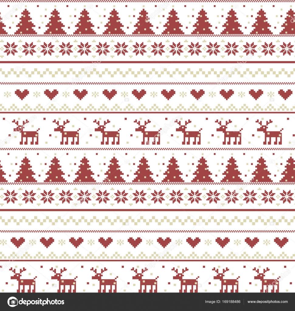 Vector: tejido navidad | Vector ilustración de Navidad patrón de ...