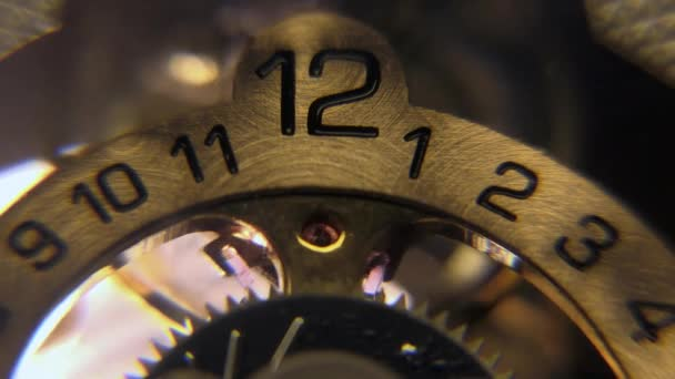 Clock pendulum time second countdown gear mechanism digit figure