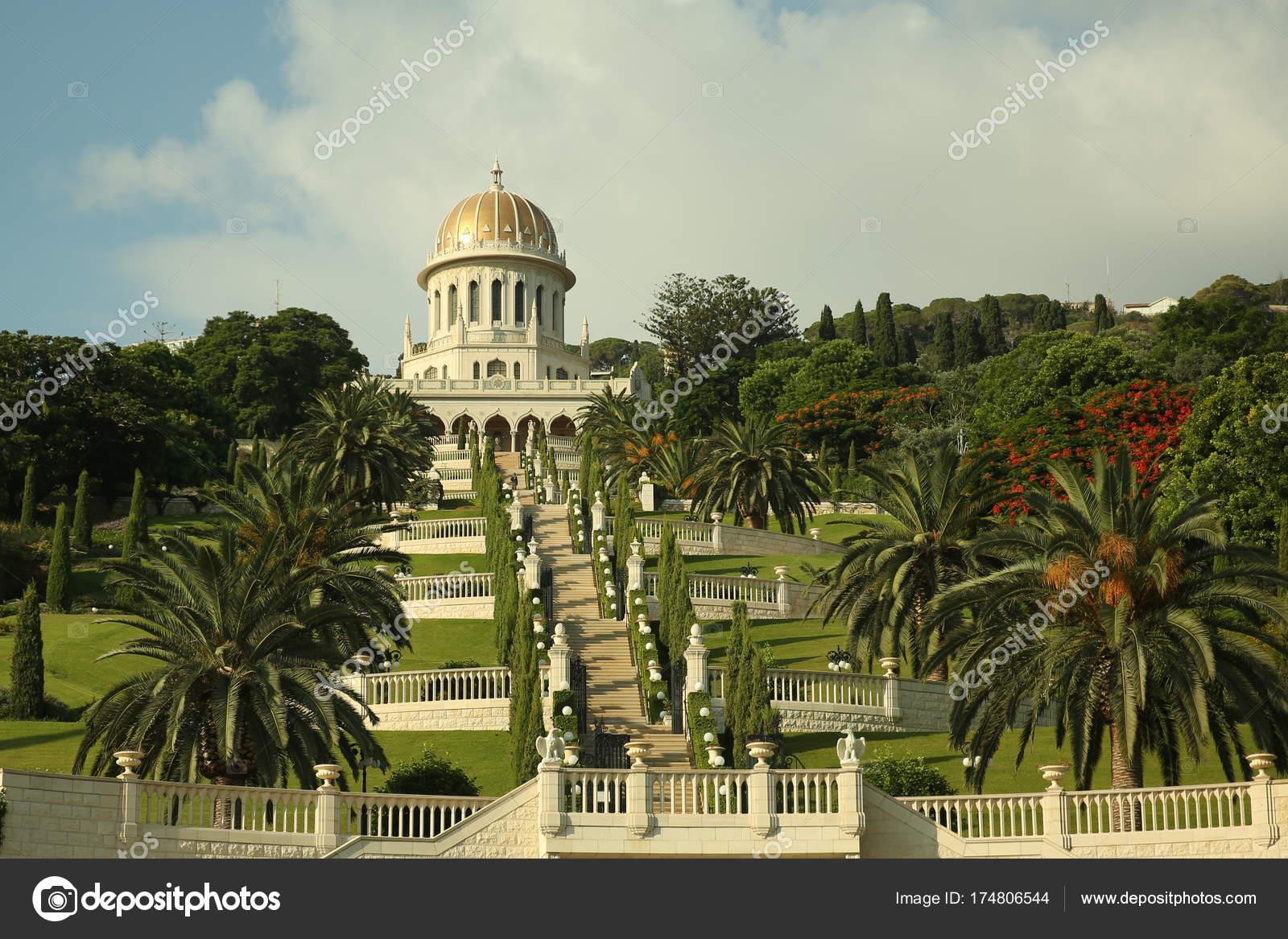 Piante Per Recinzioni Giardino.Giardini Bahai Temple Scale Cultura Fiori Piante Alberi Recinzione