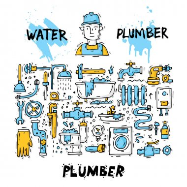 Plumber tools and accessories