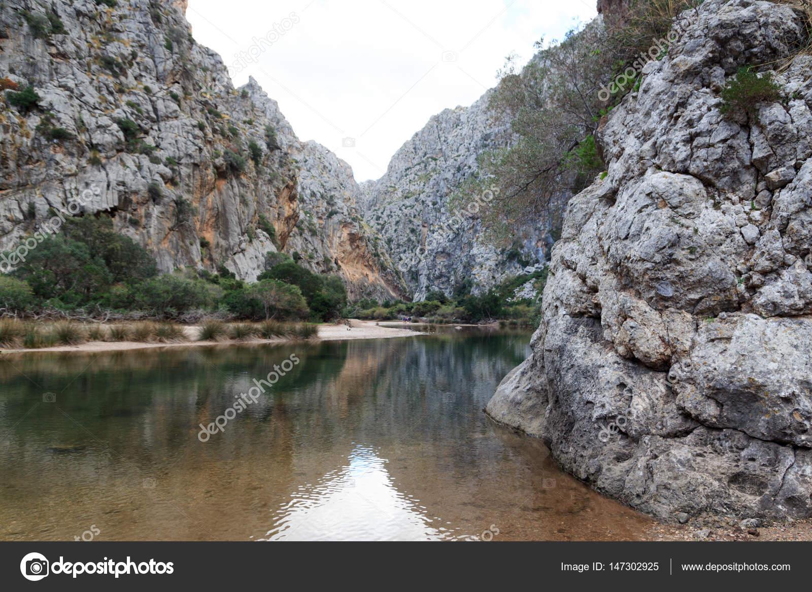 Каньон торрент де pareis, майорка, испания — стоковое фото.