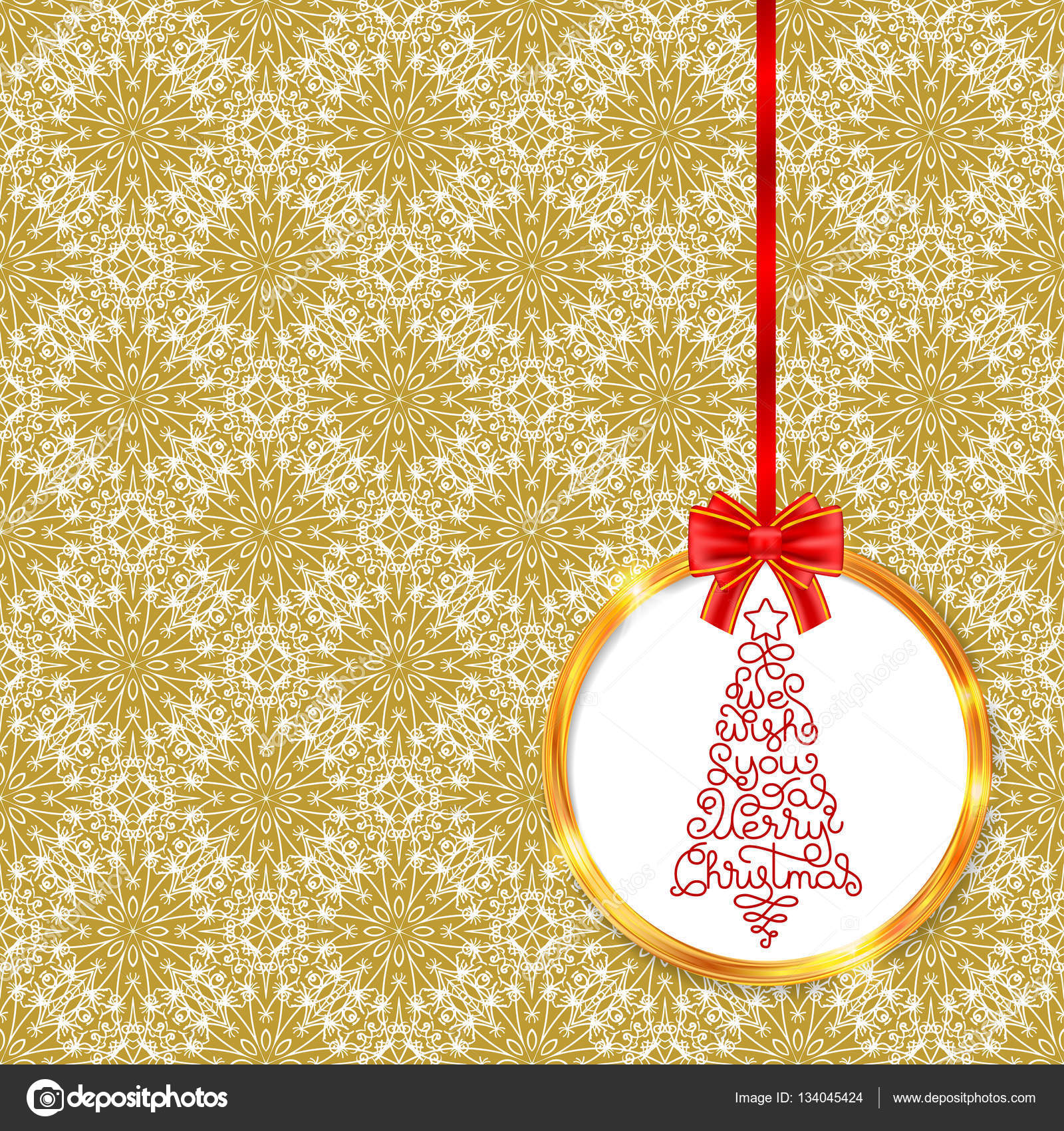 Christmas tree in frame with bow — Stock Vector © josephine art