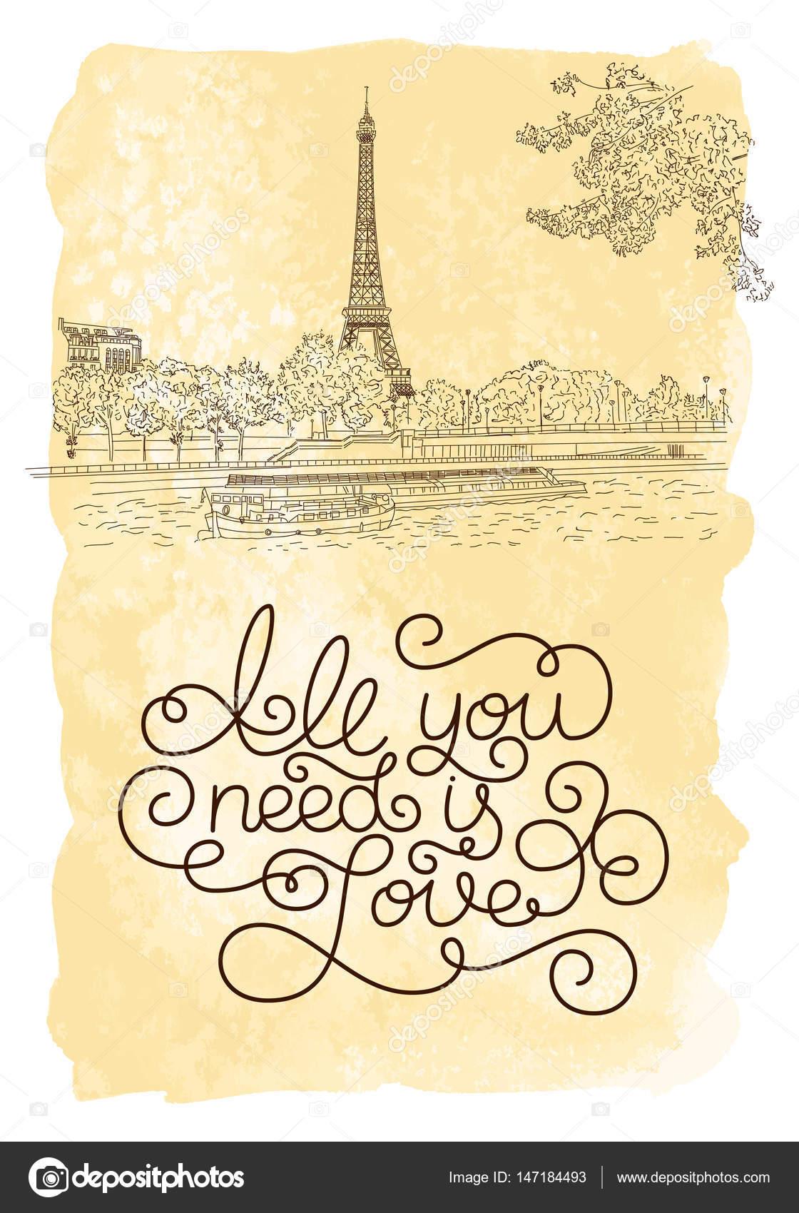 Holiday Gift Card Con Mano Letras Todo Lo Que Necesitas Es Amor Y P