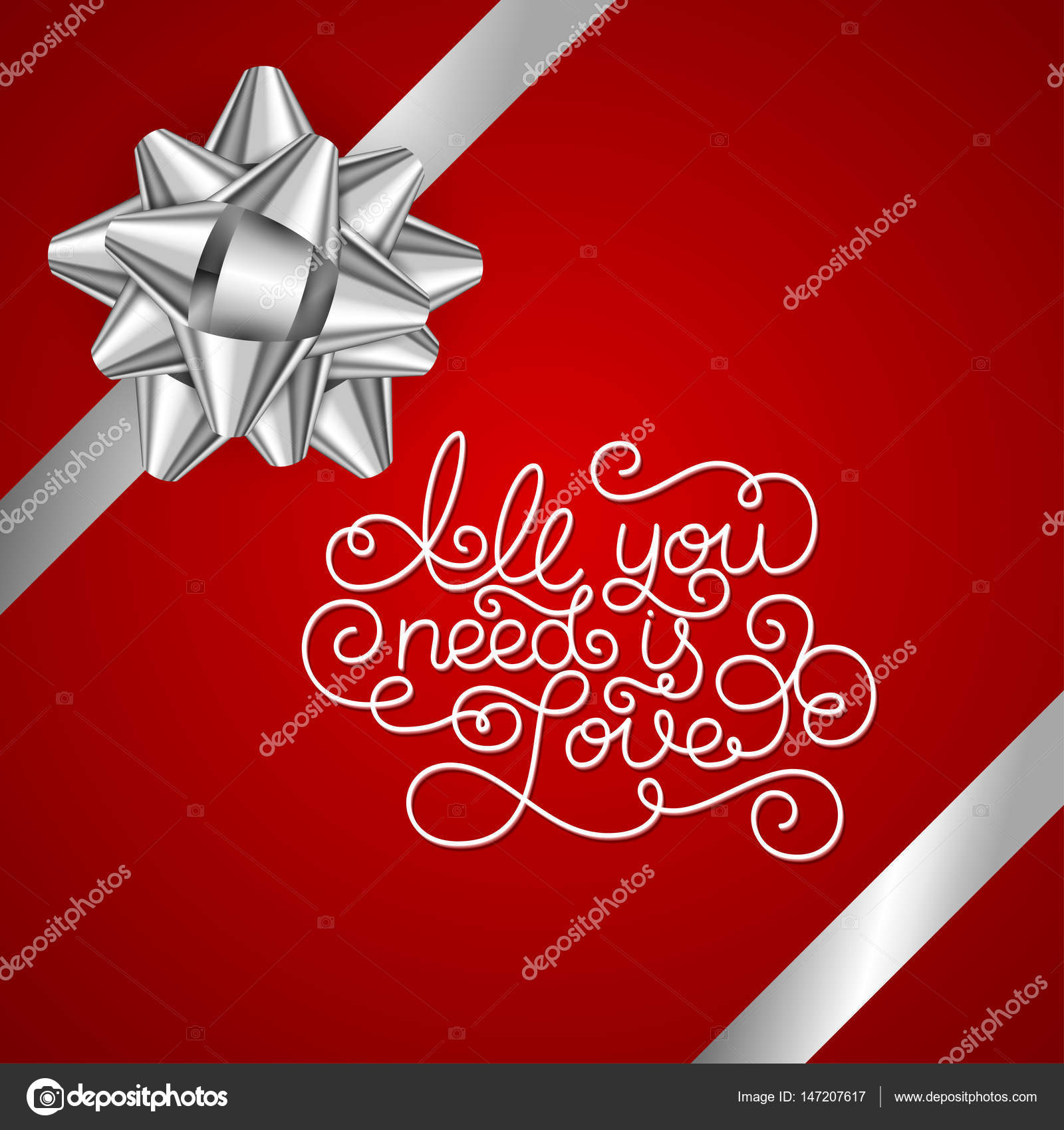 Holiday Gift Card Con Mano Letras Todo Lo Que Necesitas Es Amor