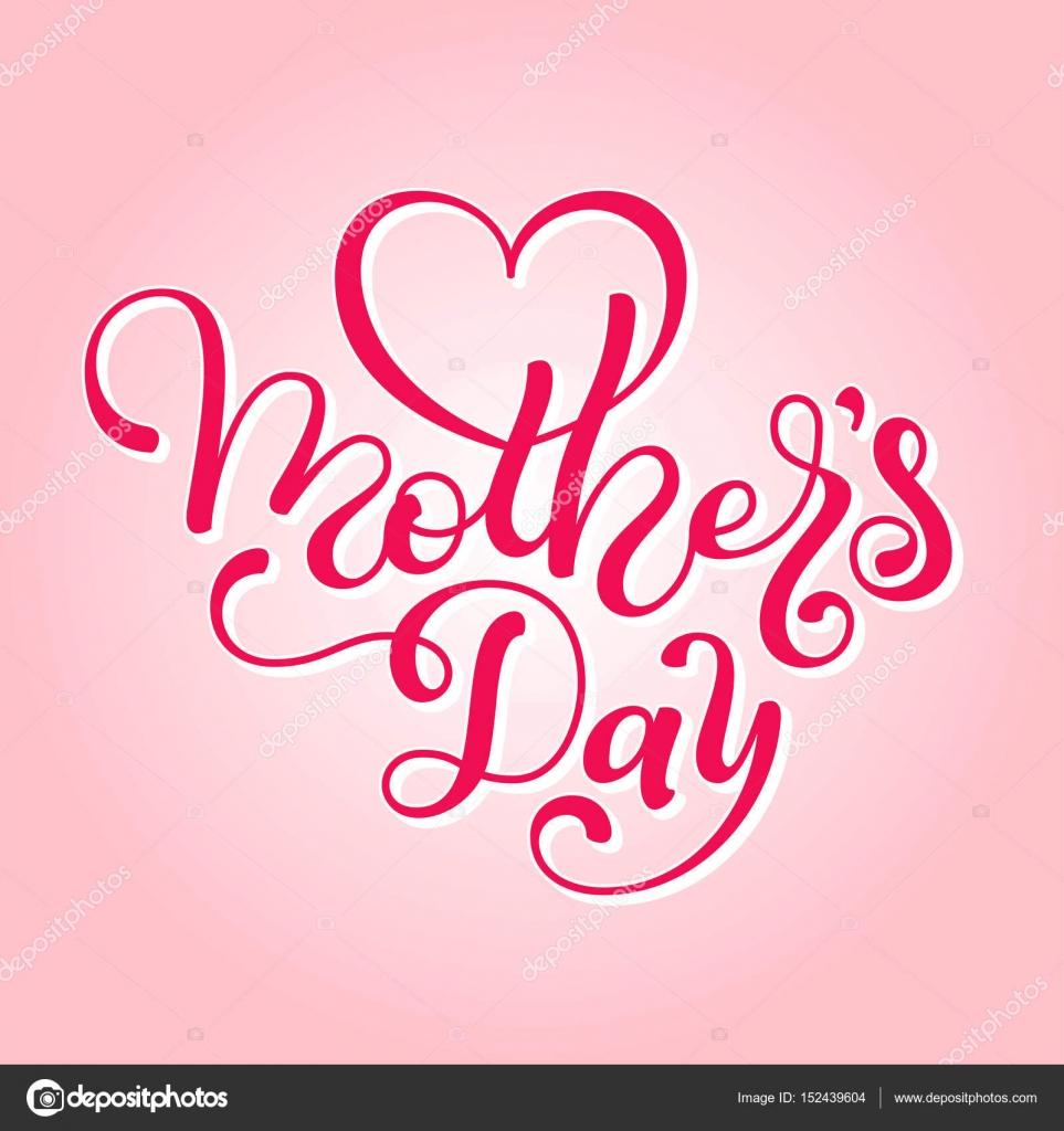 Urlaub Geschenk-Karte mit Hand Beschriftung Muttertag. Vorlage für ...