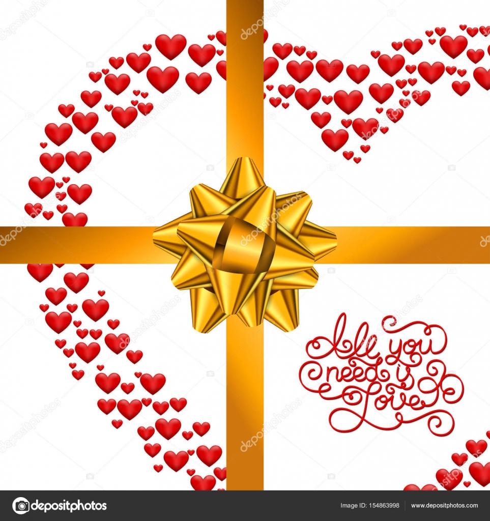 Holiday Gift Card Con Mano Letras Todo Lo Que Necesitas Es Amor Y El
