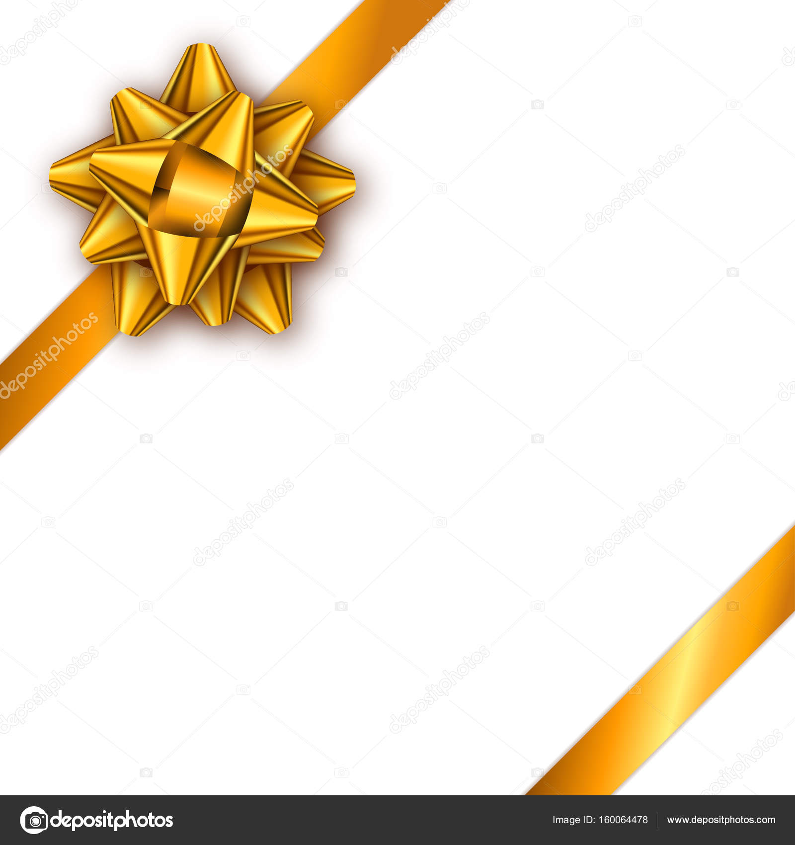 holiday gift card with golden ribbon and bow template for a bus
