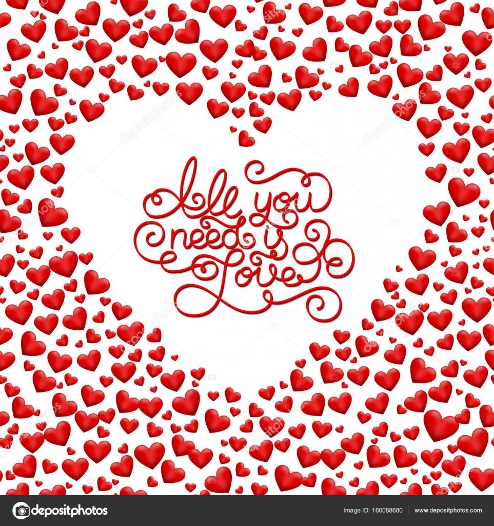 Holiday Gift Card Con Mano Letras Todo Lo Que Necesitas Es Amor Y