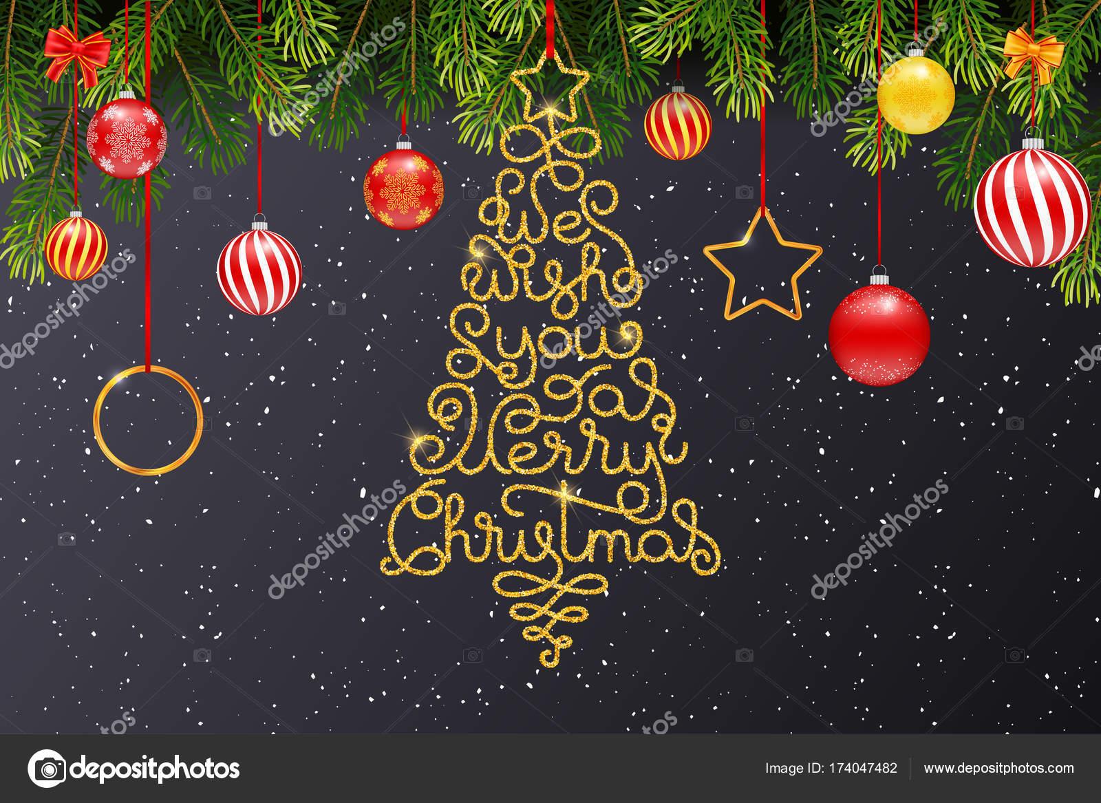 Wir wünschen Ihnen frohe Weihnachten Karte — Stockvektor ...