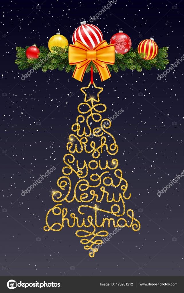 Urlaub Geschenk-Karte mit Hand-Schriftzug, wir wünschen Ihnen eine ...