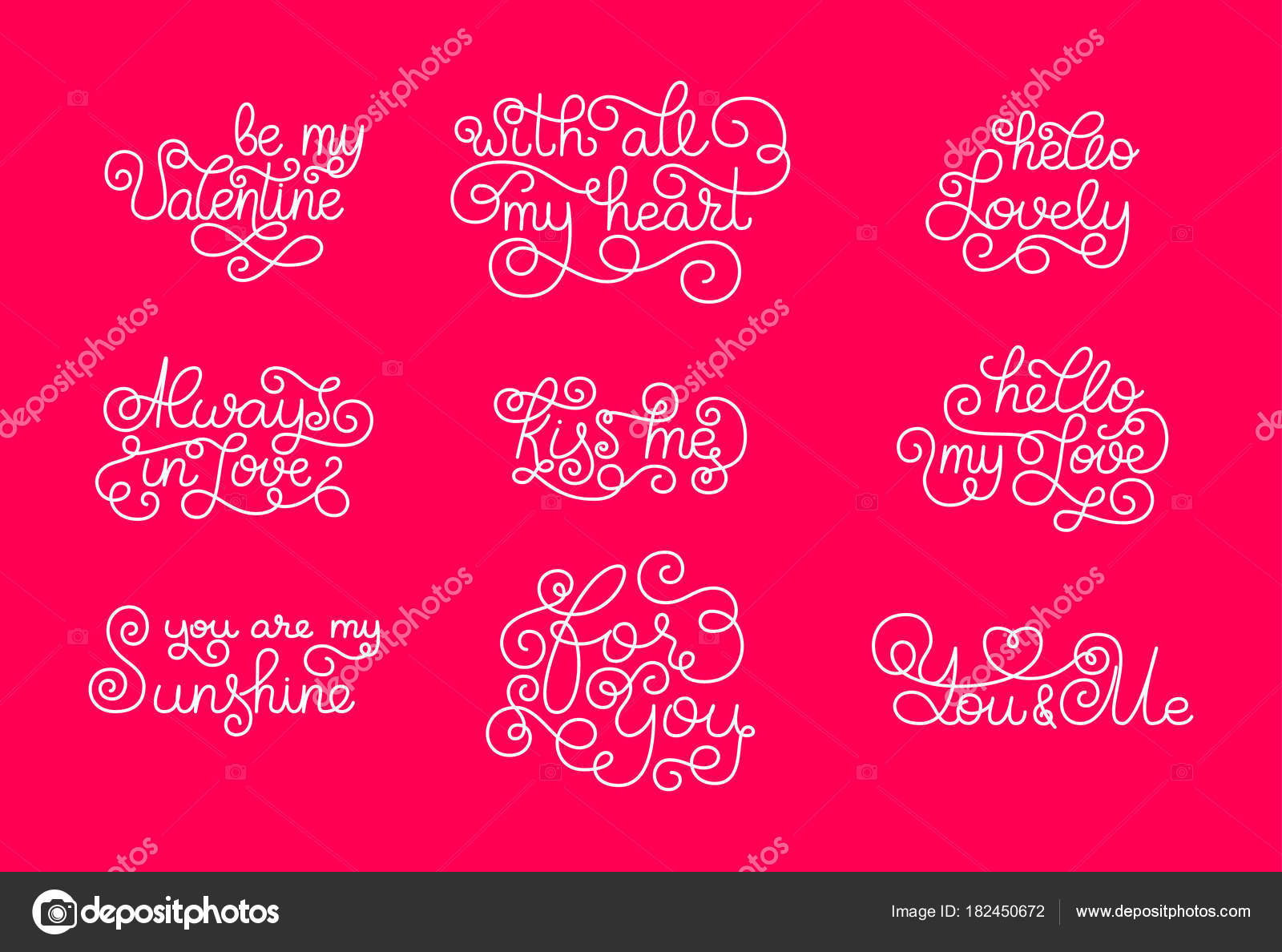 Valentines day romantic phrases template for a business card valentines day romantic phrases template for a business card banner poster notebook invitation with a modern lettering vector illustration for your colourmoves