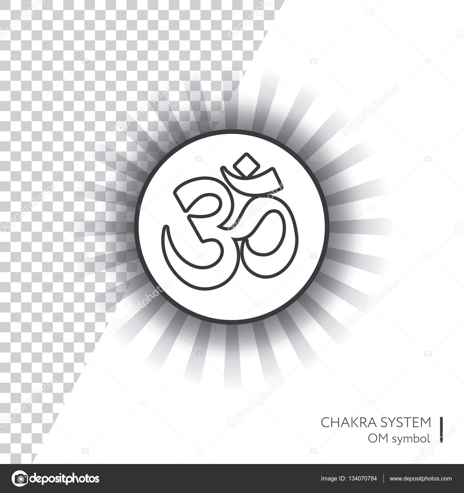 Symbol om vector isolated minimalistic icon with transparent aura symbol om vector isolated minimalistic icon with transparent aura for yoga studio banner biocorpaavc