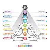 Čakry systém lidského těla - v hinduismu, buddhismu a Ayurveda. Pro design spojené s jógou - plakátu, nápisu. Anahata, Manipura, vektorové Sahasrara, Ajna, Vishuddha, Muladhara Swadhisthana