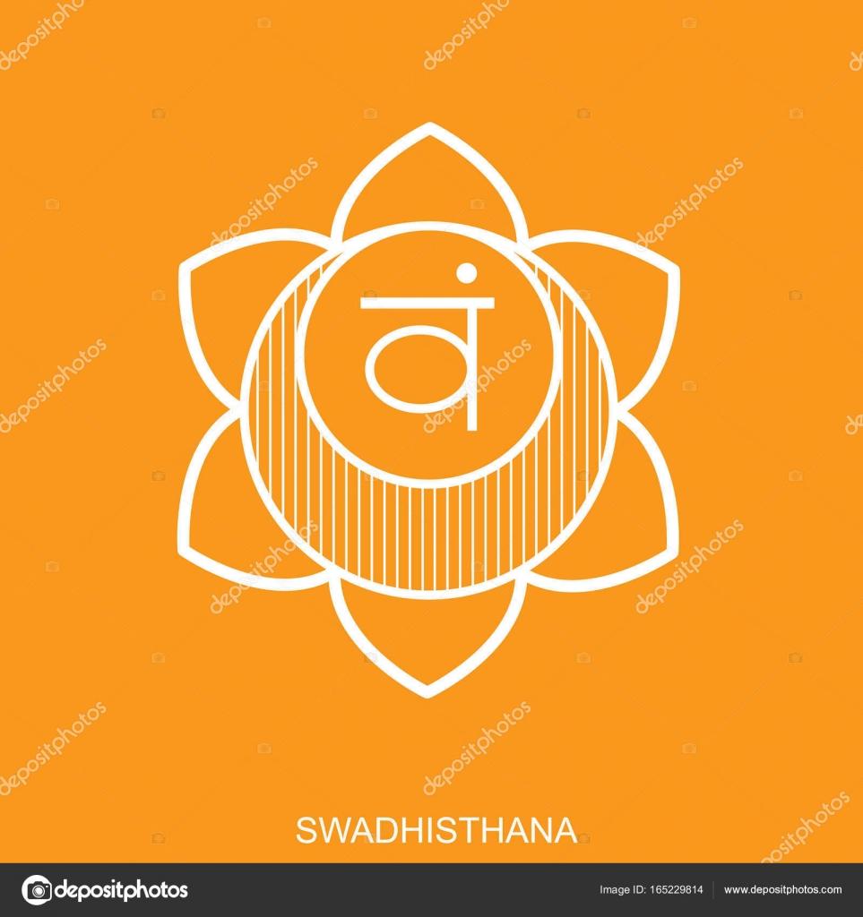 Swadhisthana chakra vector isolated minimalistic flat icon for chakra vector isolated minimalistic flat icon for yoga studio banner poster symbol used in hinduism buddhism and ayurveda editable concept buycottarizona Gallery