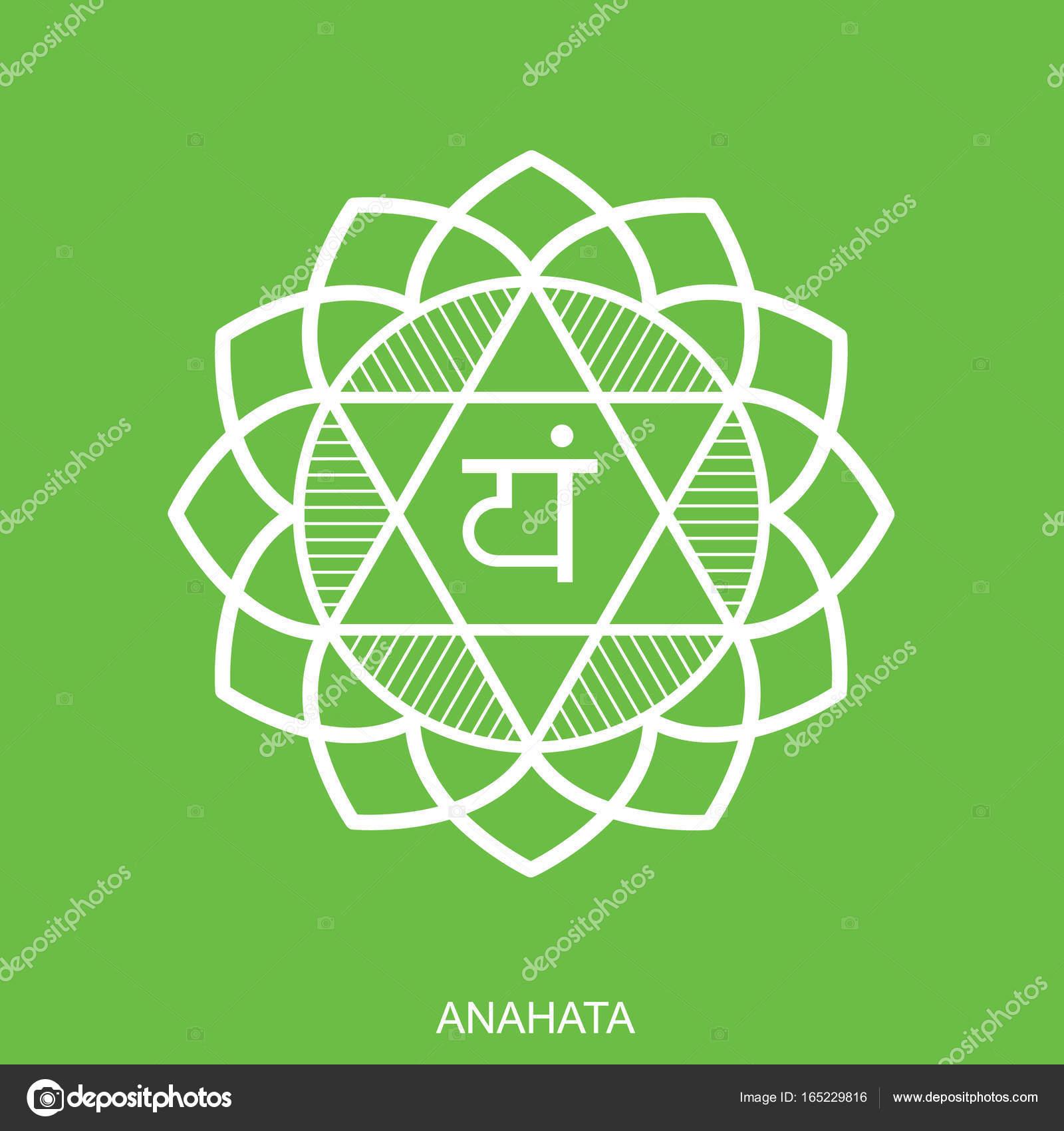 Anahata chakra vector isolated minimalistic flat icon for yoga chakra vector isolated minimalistic flat icon for yoga studio banner poster symbol used in hinduism buddhism and ayurveda editable concept buycottarizona Gallery