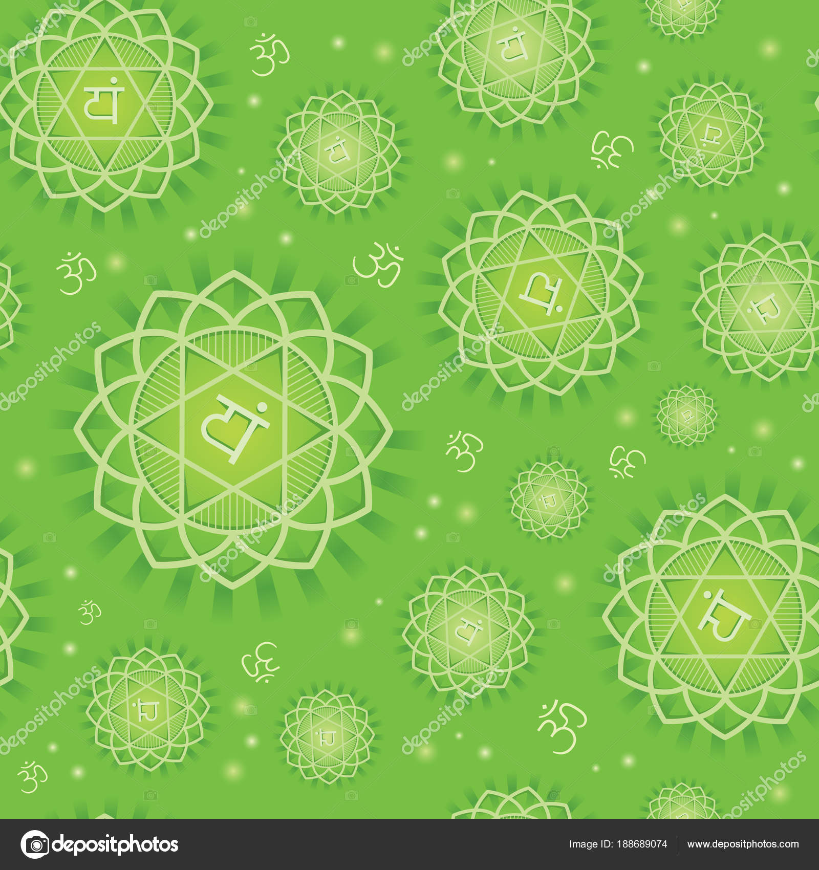 Seamless repeat pattern with primary chakra anahata symbol of seamless repeat pattern with primary chakra anahata symbol of energy center of human body used in hinduism buddhism and ayurveda vector buycottarizona Gallery