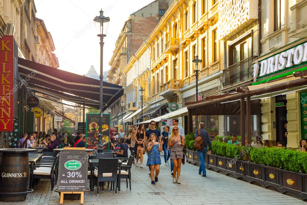 Bucharest Town Editorial Image Image Of Bucharest: 28.04.2018: Tourists In Old Town And