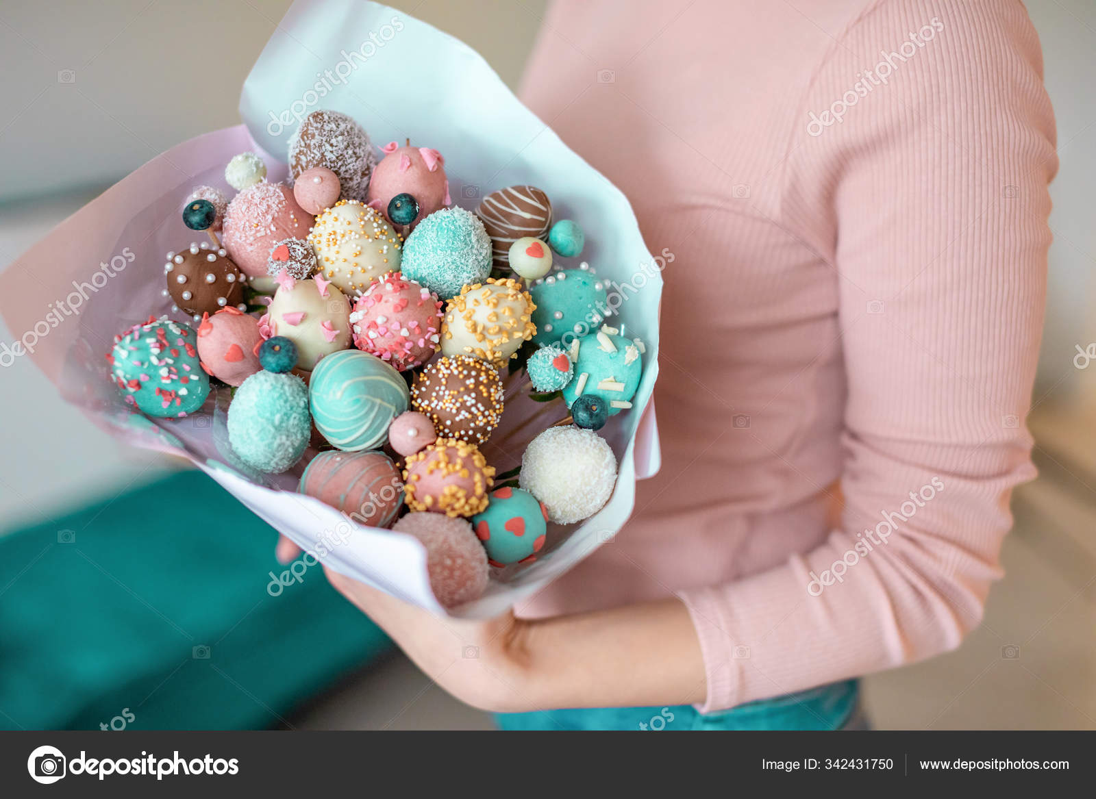 A Bouquet Of Chocolate Covered Strawberries In Woman Hands Stock Photo C Dtatiana 342431750
