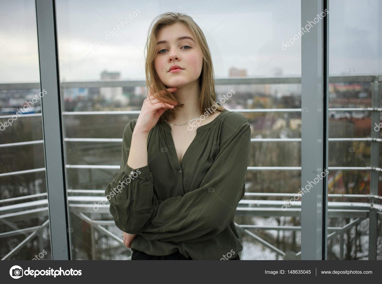 student Blonde teen