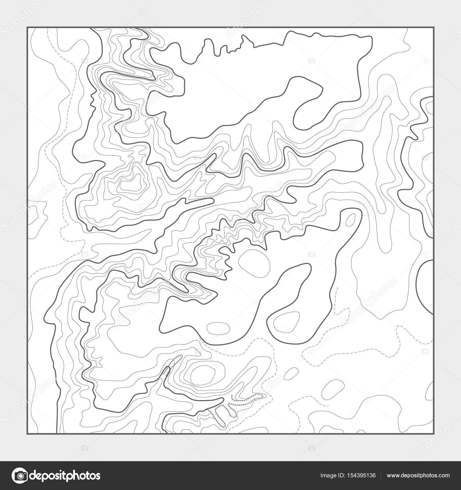 Topographic contour map background - topo heightmap — Stock Vector