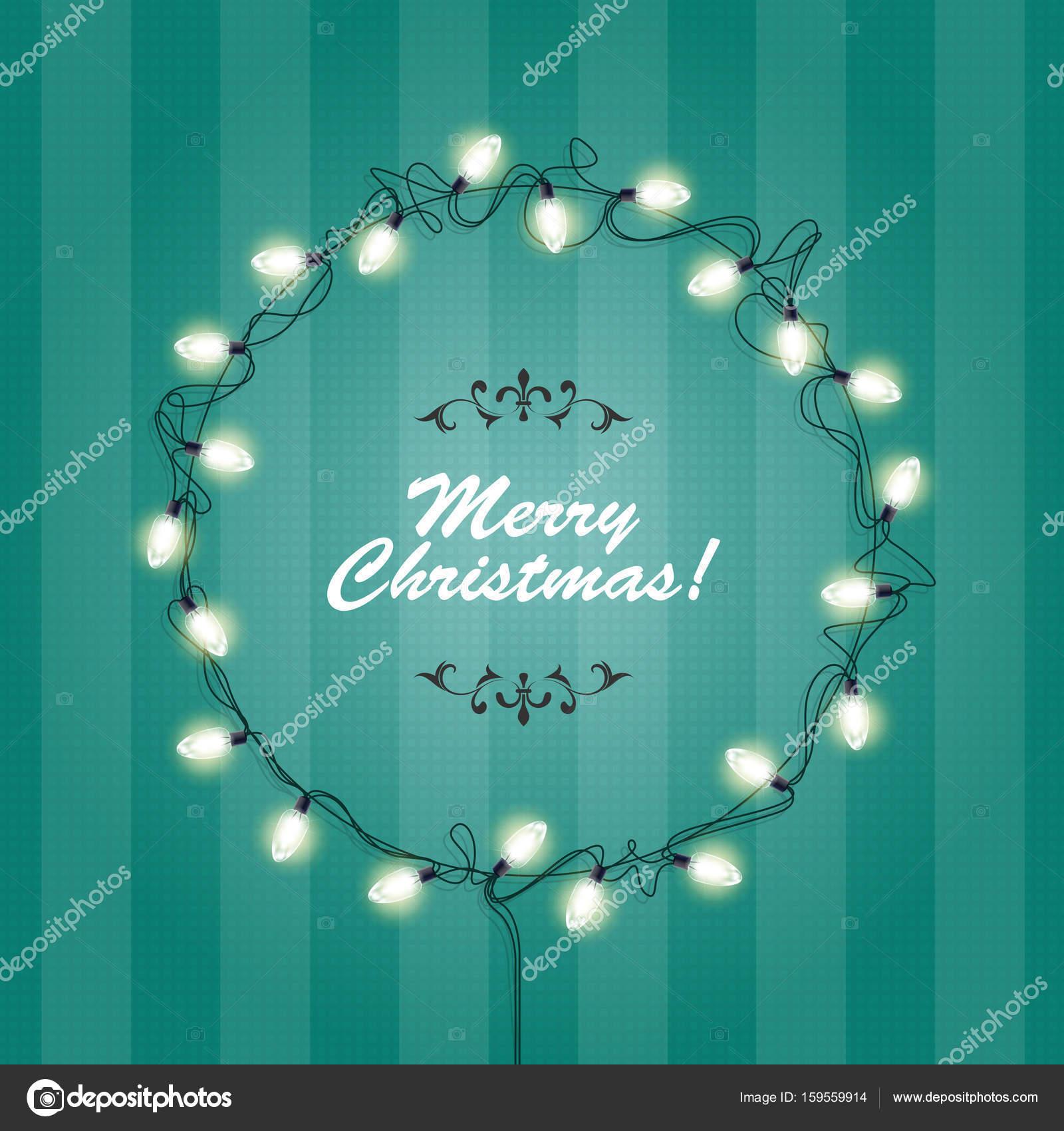 Weihnachtsbeleuchtung Kranz.Weihnachtsbeleuchtung Kranz Frame Runde Festliche Lichter