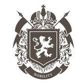 Fényképek Royal nevesítve - luxus címer, oroszlán, pajzs és cr