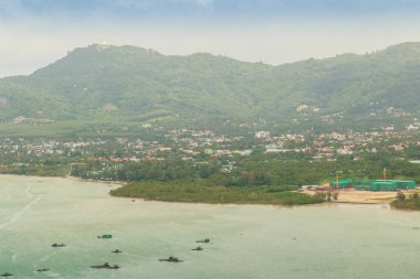Beautiful view from Khao-Khad Views Tower, tourists can enjoy the 360-degree view such as Chalong bay, Panwa cape, Sire island, Bon island, tiny and large islands around Phuket including Phuket city. This tower was built according to Vichit district