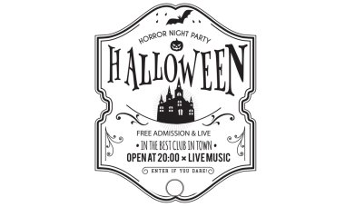 halloween night party invitation card vector