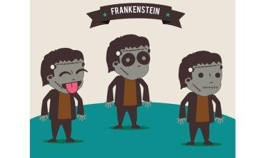 Best frankenstein Halloween vector background
