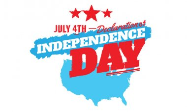 independence day july 4th logo vector background